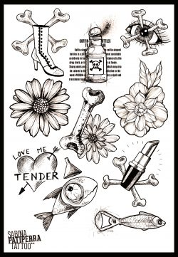 planche flashs tattoo-décalcos-stickers